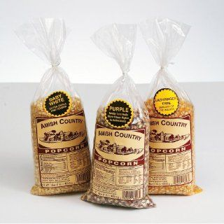 Amish Country Popcorn, Set of 3 1lb. bags : Popcorn Kernels : Grocery & Gourmet Food