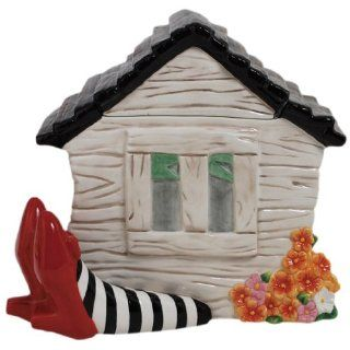 Westland Giftware Ceramic Cookie Jar, 9.25 Inch, Wizard of Oz House on Legs: Kitchen & Dining