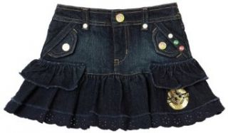 Baby Phat Girls 2 6x Baby Phat Denim Skirt,Congo Denim,4T: Clothing