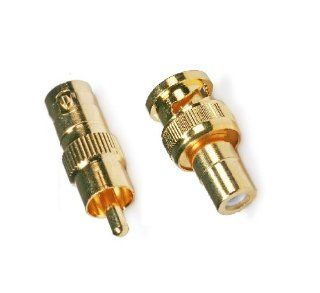 Wennow 5 pcs RCA female to BNC male + 5 pcs RCA M to BNC F connector: Electronics