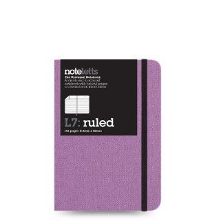 Lett's Noteletts Universal Notebook, Small, Ruled, Lilac, 4.375 x 3.125 Inches, 192 Pages (LEN7RLC)