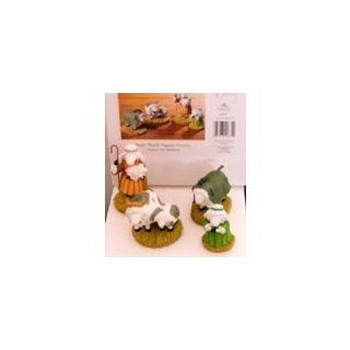 Really Woolly Pageant Nativity Donkey, Cow, Shepherds   Nativity Figurine Sets