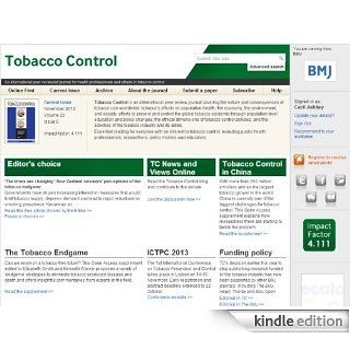 Summaries of recent peer reviewed articles from Tobacco Control: Kindle Store: BMJ Publishing Group Ltd