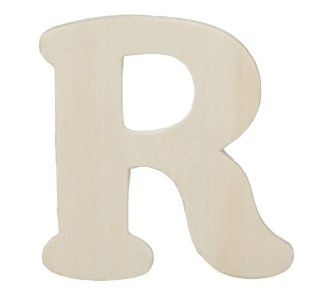 Darice 9181 R Wood Cutout, Letter R