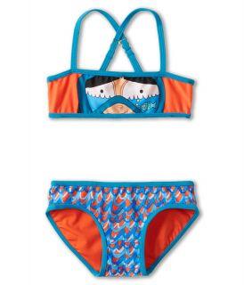 Little Marc Jacobs Bandeau Top & Classic Bottom Bikini Set Vibrant Red