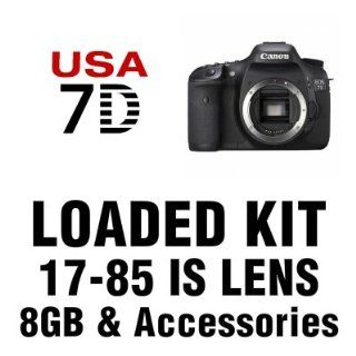 Canon EOS 7D Digital SLR Camera with 17 85mm IS, 8 GB and More  Digital Slr Camera Bundles  Camera & Photo