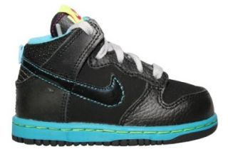 Nike Kids Dunk High Nd (Td) Black Fireberry 354794 044 5c: Shoes