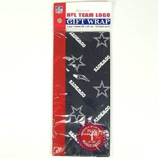 DALLAS COWBOYS OFFICIAL CHRISTMAS WRAPPING PAPER  Sports Related Collectibles  Sports & Outdoors