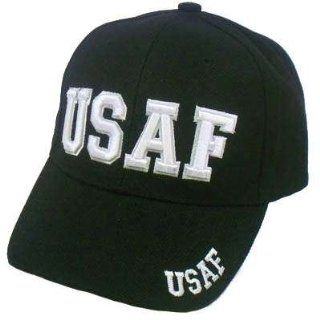US AIR FORCE USAF BLACK WHITE MILITARY VELCRO HAT CAP : Sports Related Merchandise : Sports & Outdoors