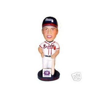 ATLANTA BRAVES 90 MACON CHIPPER JONES MINOR BOBBLEHEAD : Sports Related Collectibles : Sports & Outdoors