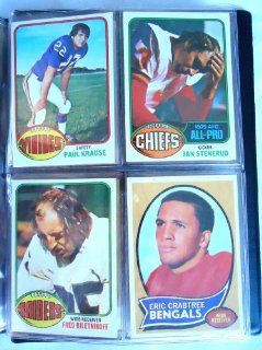 40 Different Old Vintage TOPPS NFL Football Sports Cards from the 1970's in a Collector's Binder. GREAT VALUE!! at 's Sports Collectibles Store
