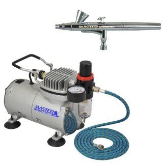 Fine Art/Nail DUAL ACTION AIRBRUSH Quiet AIR COMPRESSOR