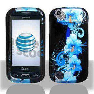 Blue Hawaiian Flower Pantech P9050 Laser Snap on Cell Phone Case + Microfiber Bag: Cell Phones & Accessories