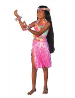Aloha Set Pink Child Teen Kids Girls Costume   Funny Fashions: Clothing