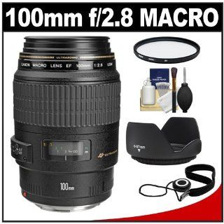 Canon EF 100mm f/2.8 Macro USM Lens with Filter + Lens Hood + Accessory Kit for EOS 60D, 6D, 7D, 5D Mark II III, Rebel T3, T3i, T4i Digital SLR Cameras : Camera Lenses : Camera & Photo
