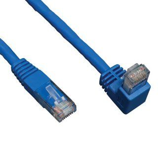 Tripp Lite N204 005 BL DN 5ft Blue Cat6 Gigabit Right Angle Down to Straight Patch Cable, 5 Feet: Electronics