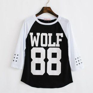 KPOP EXO SUPPORT WOLF 88 GROWL SAME T SHIRT (M): Clothing