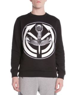 Mens Printed French Terry Sweatshirt, Black   Givenchy   Black (SMALL)