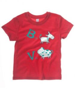 Dos Borreguitas Girl's B de Burro, V de Vaca   Spanish Saying T shirt: Clothing