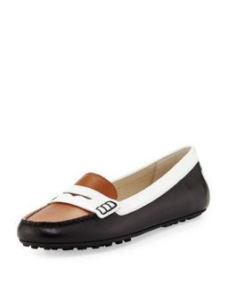 Daisy Loafer   MICHAEL Michael Kors   Black/Optic white (37.0B/7.0B)