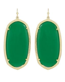 Danielle Earrings, Green Onyx   Kendra Scott   Green