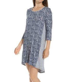 Ellen Tracy 8215327 Mod 3/4 Sleeve Sleepshirt