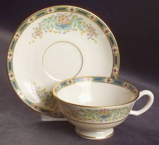 Lenox China Mystic Footed Cup & Saucer Set, Fine China Dinnerware   Multicolor B