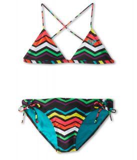 Roxy Kids Wave Wonderer Cross Over Set Girls Swimwear (Multi)