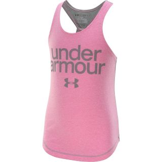 UNDER ARMOUR Girls Qualifier Tri Blend Tank Top   Size: Small, Chaos/steel