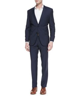 Mens James Pinstriped Two Piece Suit, Navy   Boss Hugo Boss   Navy (4243R)