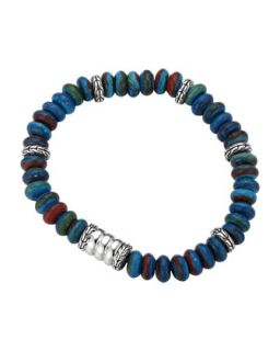 Mens Batu Bedeg Rainbow Beaded Bracelet, Multi   John Hardy   Multi