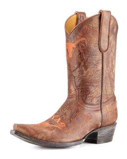 University of Texas Short Gameday Boots, Brass   Gameday Boot Company   Brass