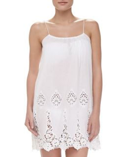 Womens Anna Embroidered Voile Coverup   Miguelina   Pure white (MEDIUM)