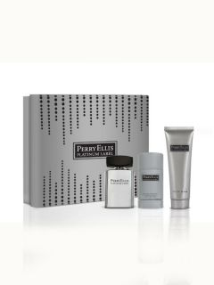 Perry Ellis Mens Perry Ellis Platinum Gift Set