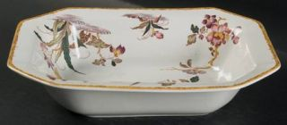 Wedgwood Devon Rose 9 Oval Vegetable Bowl, Fine China Dinnerware   Georgetown C