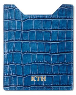 Crocodile Embossed Passport Case   Abas   Orange