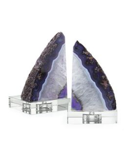 Purple Geode Bookends   Regina Andrew Design   Purple