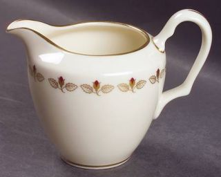 Lenox China Romance Creamer, Fine China Dinnerware   Rosebuds Inner Ring, Gold T