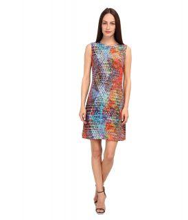 M Missoni Kaleidoscope Print Silk Shift Dress Womens Dress (Blue)