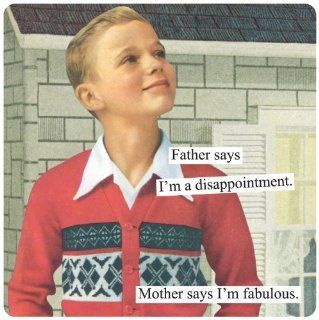 Anne Taintor Square Magnet, Mother Says I'm Fabulous: Kitchen & Dining