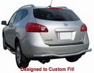 Premium Custom Fit 08 13 Nissan Rogue Stainless Steel Rear Bumper Guard Nerf Push Bar (Mounting Hardware included): Automotive