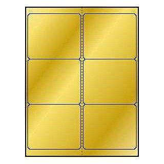 """600 Label Outfitters® Gold Foil Labels, 4"""" x 3.33"""", 6 per Sheet (Same size as Avery� 5164) : Printer Labels : Office Products"""