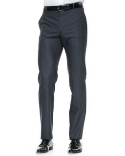 Mens The Byard Wool Trousers, Charcoal   Paul Smith   Grey (32)