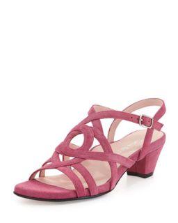 Oma Suede Strappy Sandal, Magenta   Taryn Rose   Magenta (36.5B/6.5B)