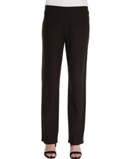 Washable Crepe Straight Leg Pants   Eileen Fisher