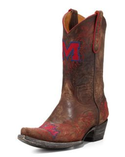 Ole Miss Short Gameday Boots, Brass   Gameday Boot Company   Brass (35.5B/5.5B)