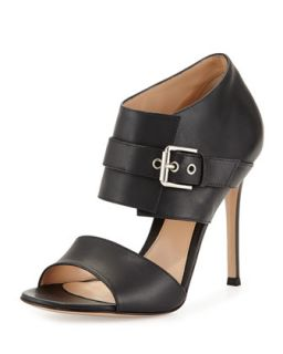 Double Band Buckle Sandal   Gianvito Rossi   Black (40.5B/10.5B)