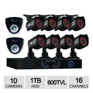 Night Owl 960H 16Ch 10 Cam 600TVL 1TB HDD Sec Sys  Home Safety And Security Products  Camera & Photo