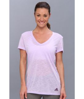 adidas Boyfriend Double V Neck Tee Womens T Shirt (Purple)