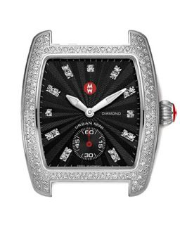 Urban Mini Diamond Head, Stainless Steel   MICHELE   Silver